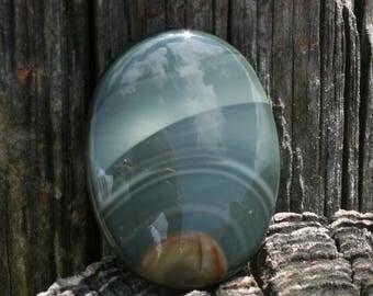 Oval Green Imperial Jasper 39 x 29 Cabochon (2)