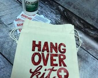 Hang over kit, Bachelorette party hang over kit, Wedding favors
