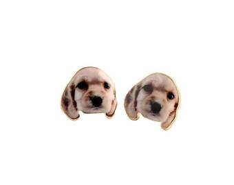 Lovely Dog Puppy GOLDEN Labrador RETRIEVER Earring Ear Stud Earrings BEAUTIFUL 1.2x1.6 cm