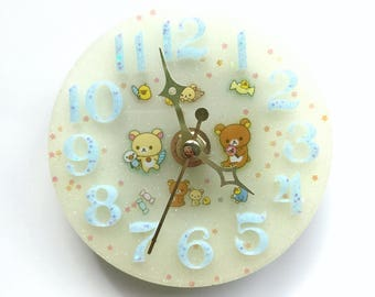 Handmade unique resin clock