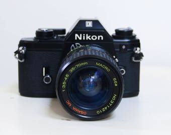 Vintage Nikon EM Camera TESTED 35 mm 50 mm Osawa 35-70 mm Lens/ Manual Film Camera SLR Vintage Photography