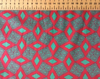 High quality cotton poplin, tribal or Japanese geometrical print