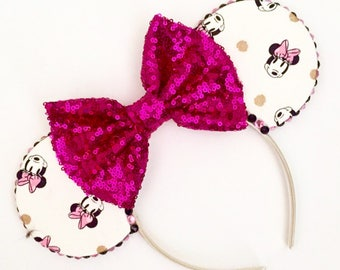 The Polka Mouse - Handmade Minnie Mouse Inspired Mouse Ears Headband