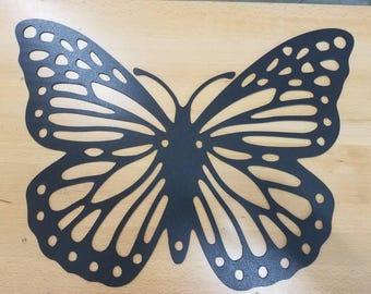 Butterfly metal wall art plasma cut decor