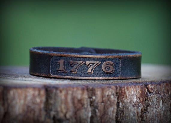 Genuine Leather Bracelet, 1776 Leather Bracelet