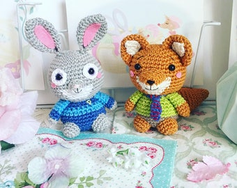 Judy Hopps ou Nick Wilde (Lambs) crochet poupée amigurumi disney