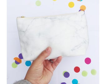 Marble Makeup Bag, Marble Clutch, Marble Wash Bag, Marble Cosmetic Bag, Zippered Pouch, Marble Print, marble toiletry bag, Frazzleflorrie