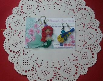 Disney Princess Earrings /  little mermaid / snow white / alice