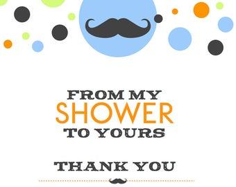 Boy - Mustache Thank You