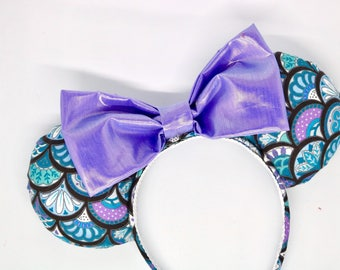 Mermaid mouse ears, ariel mouse ears, disney ears, minnie mouse ears, little mermaid ears, mermaid ears, mickey mouse ears, mermaid headband