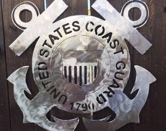 US Coast Guard Metal Art