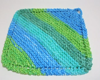 Diagonal dishcloth, knit dishcloth, dishcloth, cotton dishcloth, knitted items, dish towels