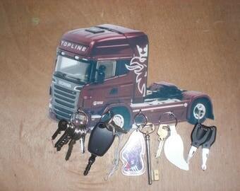 key wall truck SCANIA /accroche custom vintage keys