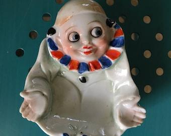 Vintage Lustreware Pierrot Clown Ashtray
