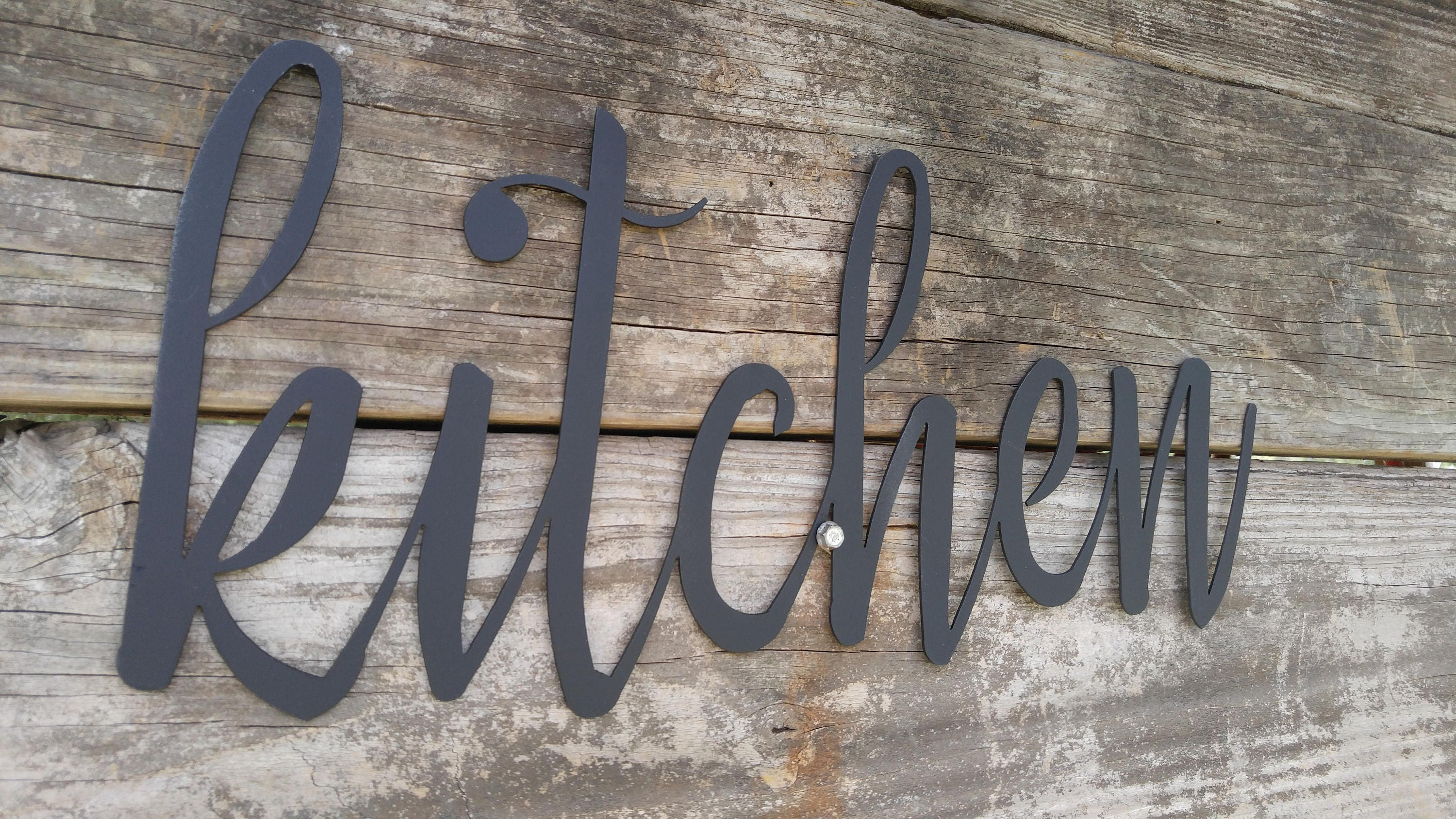 Metal Kitchen Signs, Farmhouse Wall Decor, Metal Words, Rustic ...