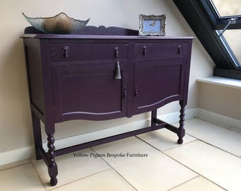 Charming Antique Hand Made Hand Painted Oak English Sideboard Buffet 100 miles free shipping