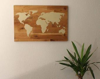 XL world map on Oak