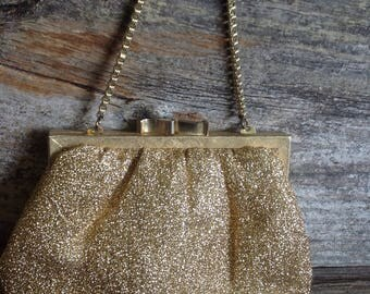 Vintage Gold Threaded Evening Bag wedding/bridal/bride/ vintage/ purse/ gold