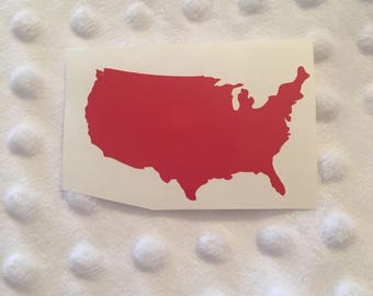 United States of America Decal - USA Outline Decal - United States Outline - United States Car Decal - United States Laptop Decal - Vinyl