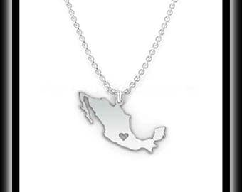 Fashion Mexico Map necklace