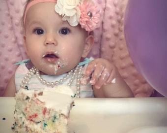 Pink bow, pink headband, girls bow, girls headband, newborn bow, newborn headband, wedding bow, wedding headband, infant bow,