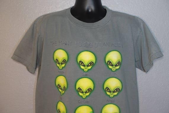 1996 RARE Alien Workshop - The Many Moods of an Alien - Skater Aliens Work Vintage T-Shirt