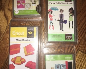 Cricut Cartridges mini books paper dolls teen scene days and dates home for the holidays Choice of 1
