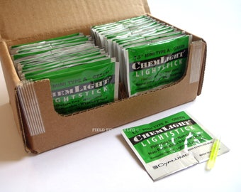 "Light Sticks- GREEN - 1.5"" MINI - British/Army/Military/Glow/Light"