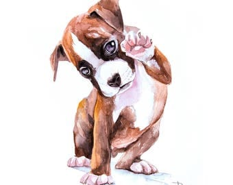 Commission painting of dog Dog Watercolor painting Custom pet portrait watercolor art home decor gift idea