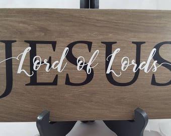 Jesus, Lord of Lord's ceramic tile 6 x 12 inch, inspirational, Christian art, Biblical art