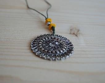 Mandala pendant necklace