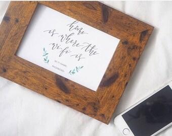 Wifi Sign | Modern Calligraphy | Botanical
