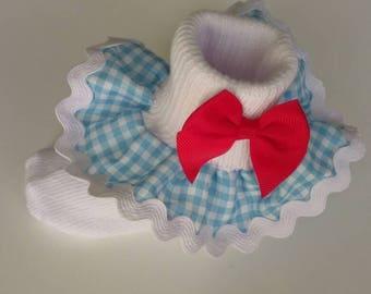 Dorothy inspired ruffle socks, Wizard of Oz socks, school socks, party socks, baby ruffle socks, Costume ruffle socks, Halloween socks