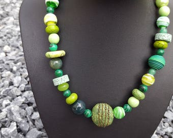 Necklace Mix in green