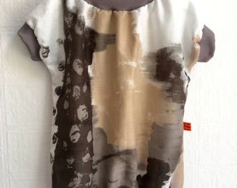 Tunics blouses dress baby toddler white taupe Brown