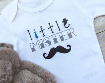 Baby Boy Onesie, Baby Clothes, Baby Boy Outfit, Baby Shirts, Little Mister Onesie, Newborn Onesie, Baby Shower Gift, New Mom Gift,