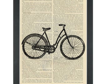 Retro bicycle Dictionary Art Print