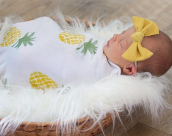 Swaddle Blanket - Posh Pineapple – Swaddle Blanket