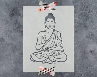 Buddha Stencil - Laser Cut Reusable Stencil of Buddha