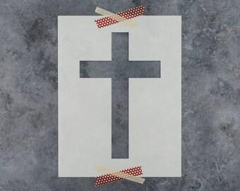 Cross Stencil - Reusable DIY Craft Stencil of a Religous Cross