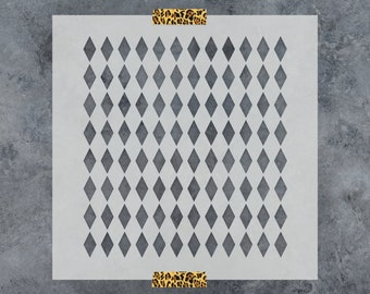 Harlequin Stencil - Reusable DIY Craft Stencils of a Harlequin Pattern