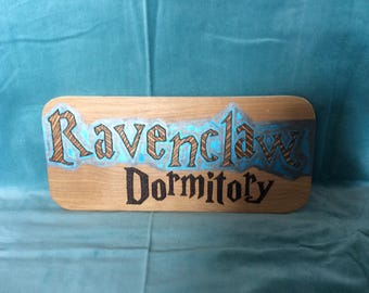 Ravenclaw Themed Dormitory sign