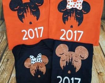 Disney Halloween Shirts Mickey or Minnie 2017 Disney Not So Scary Disney FAMILY shirts