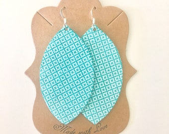 Mint Patterned Earrings