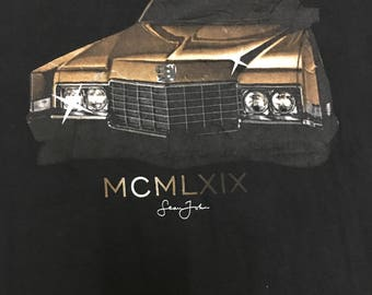 Vintage 90s Sean John Big Logo MCMLXIX Tshirt Usa Clasicc Car