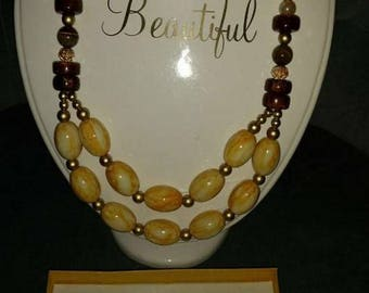 Gold and mixed color handmade beads