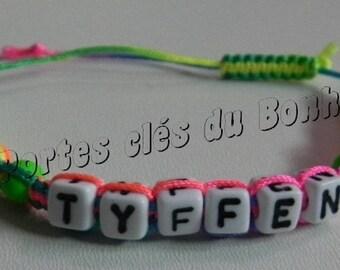 Bracelet 1 name multicolor