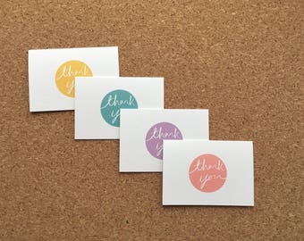 Thank You Cards - Set of 4 - Mini Thank You Cards and Envelopes - Mini Cards and Envelopes - Thank You multipack - Blank Inside
