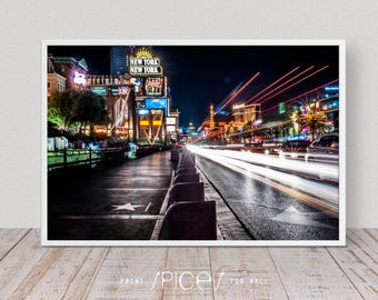 City Photography, Architecture Art, Architecture Print, Architecture Photo, Las Vegas Cityscape, Night Photography, Living Room Decor