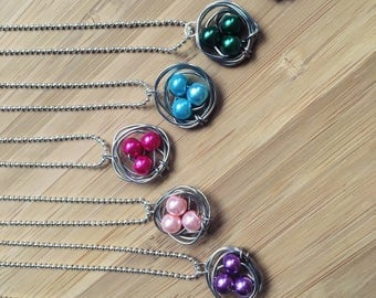 Pearl Birdnest Necklaces